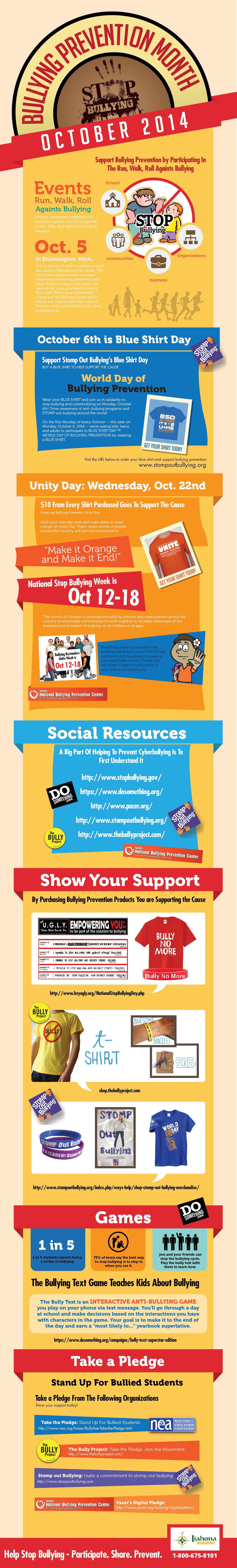 October is Bullying Prevention Month 2014 - Infographic